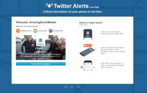 fema twitter alerts example