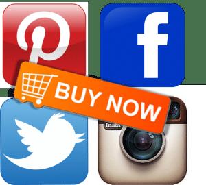 social media buy buttons