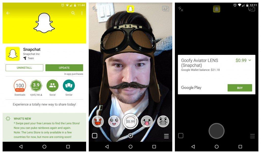 Snapchat-update-Lens-Store