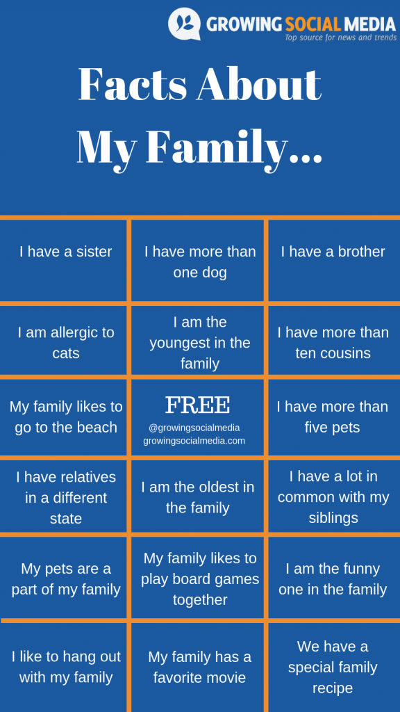Facts About My Family